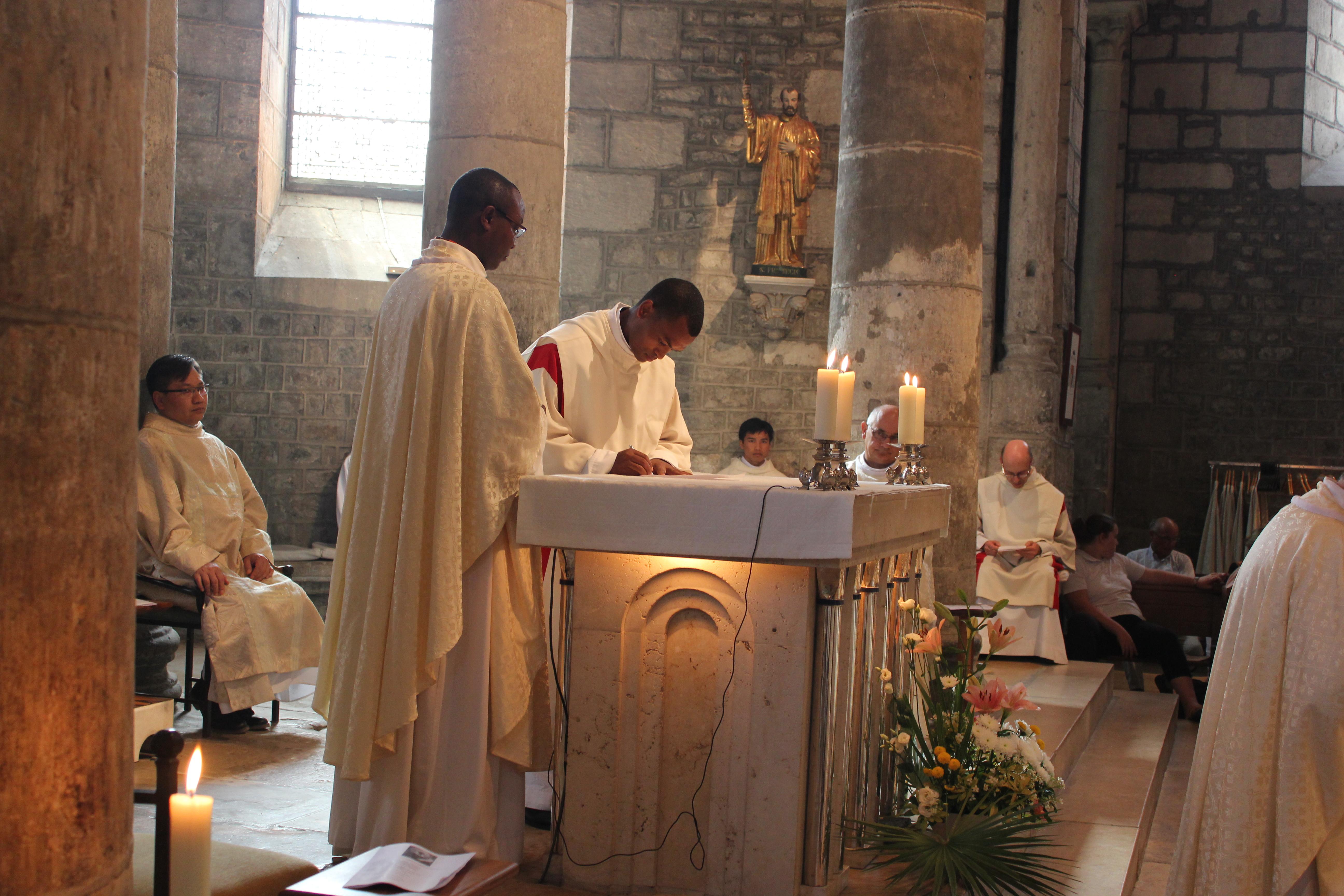 Profession solennelle des voeux du frère Sulpice - Signature
